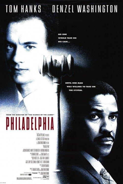 The US poster for Philadelphia (1993)