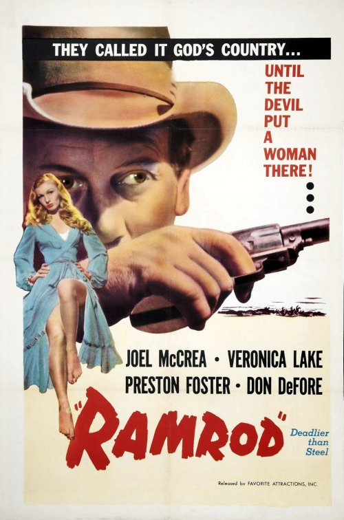 The US poster for Ramrod (1947)