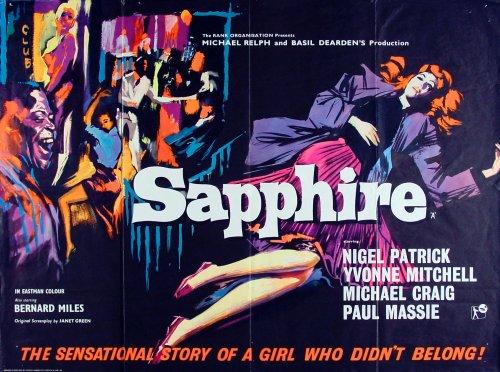 Sapphire (1959) poster