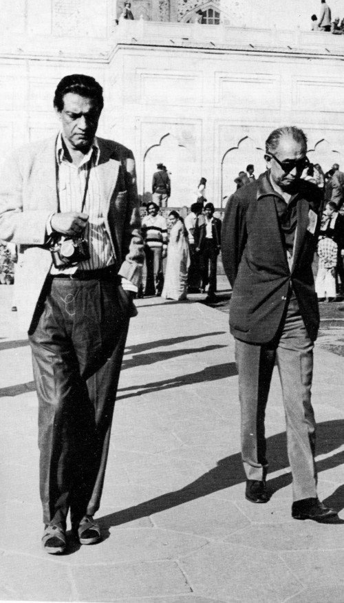 Satyajit Ray and Akira Kurosawa during a trip to the Taj Mahal in the mid 1970s