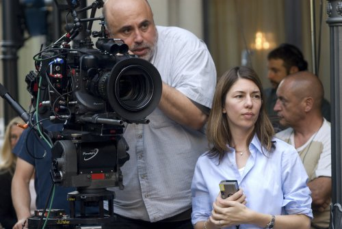 Sofia Coppola filming Somewhere (2010) with cinematographer Harris Savides