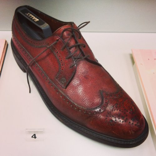Lee Marvin's shoe from Point Blank – on loan from John Boorman