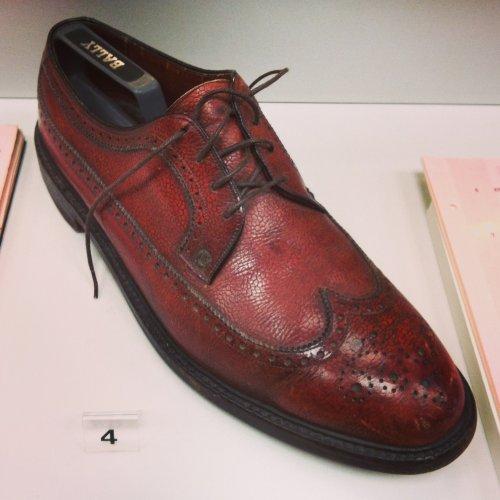 Lee Marvin's shoe from Point Blank – on loan from John Boorman