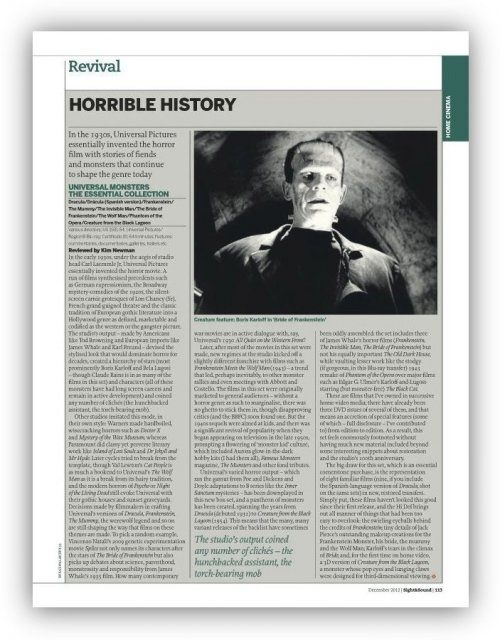 Read about the Universal Classic Monsters set in our January 2013 issue