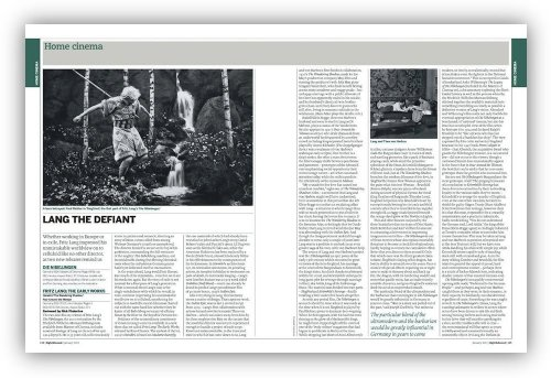 Read about Die Nibelungen in our January 2013 issue