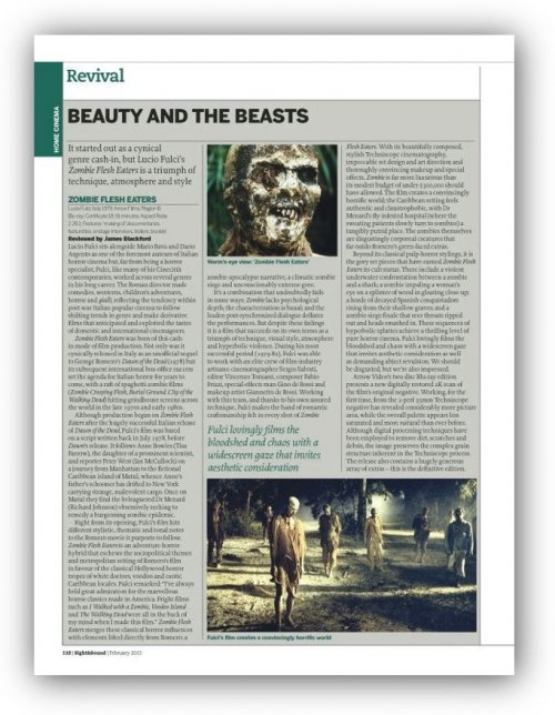 Read about Zombie Flesh Eaters in our February 2013 issue