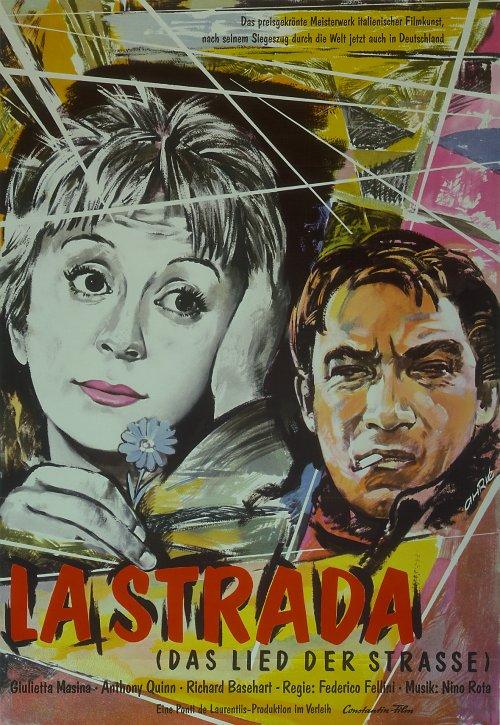 German poster for La strada (1954)