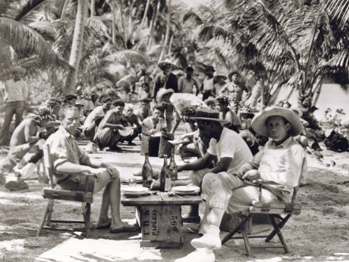 F.W. Murnau (right) on location for Tabu: A Story of the South Seas (1931)
