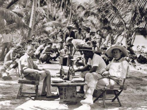 F.W. Murnau (right) on location for Tabu: A Story of the South Seas (1931)
