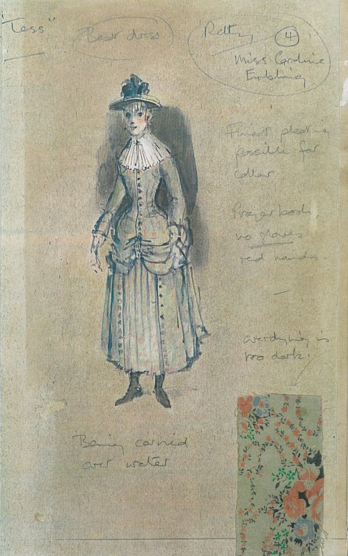 Powell's costume designs for Tess