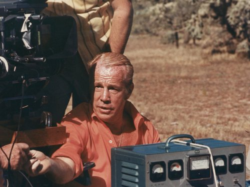 Budd Boetticher during the production of A Time for Dying (1969)