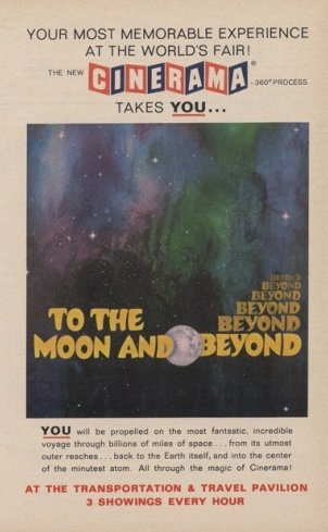 To the Moon and Beyond (1964) exhibition poster