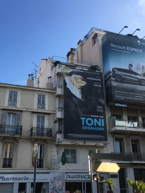 A festival poster for Toni Erdmann on show during Cannes 2016