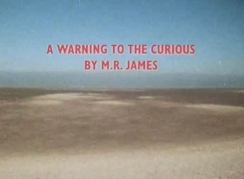 Holkham Beach as seen behind the credits of A Warning to the Curious (1972)