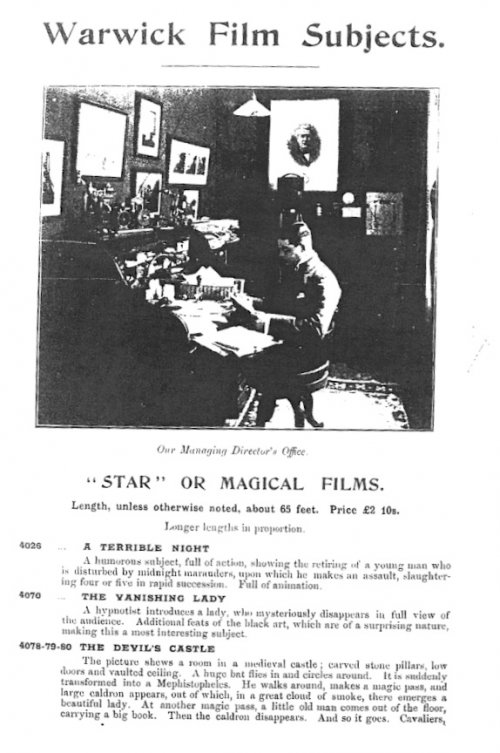 Warwick Trading Co sales catalogue