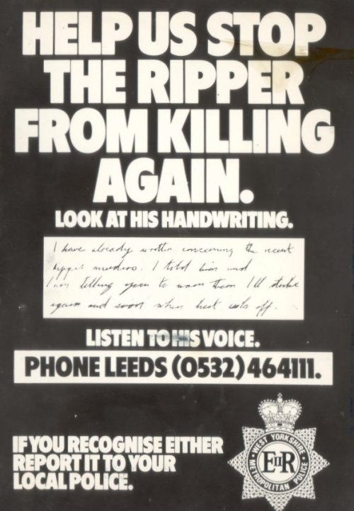 A Yorkshire ripper police appeal
