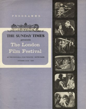 The brochure for the first London Film Festival, in 1957, where Tokyo Story had its western premiere
