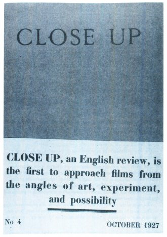 The cover of a 1927 issue of Close Up