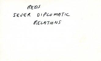 One of Kubrick's production index cards