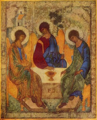 The Trinity by Andrei Rublev (painted in either 1411 or 1425-27)