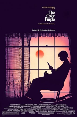 Whoopi Goldberg as a beautiful silhouette in the design for Steven Spielberg's The Colour Purple (1985).