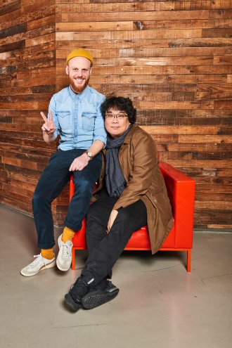 Sight & Sound Editor-in-Chief Mike Williams and Bong Joon Ho